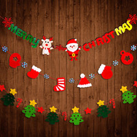 Wholesale Pull Santa - Christmas Pull Flags Merry Christmas Letters Flags Santa Decorative Wall Banner Christmas Tree Hanging Ornaments Party Supplies YFA158