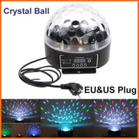 Atacado-90-240V RGB Led Stage Light Bulb Crystal Ball Lâmpada Mágica colorida por canal Partido Dj Disco Natal Xmas DMX 6CH