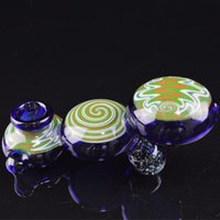 Wholesale Glasses Caterpillar - Colorful Glass Oil Pipes Artistic Pipes Cute Hand Pipes Lolly Shape Glass Smoking Pipes for Tobacco Caterpillar Glass Bongs Oil Burners