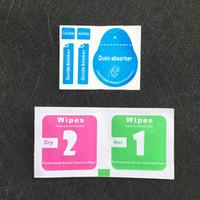 handy reinigung großhandel-Wet Dry Tücher 2 in 1 Packung Staubsauger Guide Aufkleber Alkohol Reinigung Werkzeuge für gehärtetes Glas Displayschutzfolie Tablet Handy-Bildschirme