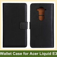 Wholesale Newest Acer - Wholesale Newest Genuine Leather Wallet Flip Cover Case for Acer Liquid E3 E380 with Card Slot Holder Free Shipping