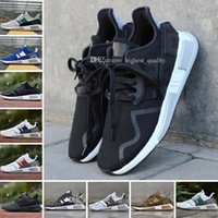 Wholesale North Europe Lighting - New EQT Cushion ADV 91 17 men women Running Shoes Triple Core Black White Red Blue green North America Europe Asia sports sneakers 36-45