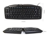 Others black ergonomic keyboard - Minicute K Adjustable Keyboard split ergonomic keyboard USB wired keyboard Black