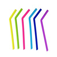 Wholesale Articles For Children - Drinks Tubularis For Children Silicone Straw Heat Resisting Multi Colors For Bar Restaurant Articles 2 2am C R