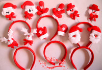 Wholesale Headband Parts - 2015 Hot Sale Christmas Party Supplies Hair Bands Bear Snowmen Santa Claus Decorations Headbands Kids Part Supply 100pcs lot
