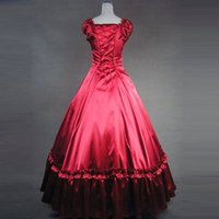 Wholesale Medieval Ball Gowns Costumes Adult - Wholesale-lolita dress Adult princess belle costume gothic victorian southern ball gown medieval dress halloween costumes for women custom