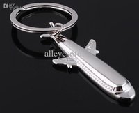 Wholesale Boeing Keychain - Wholesale-free shipping fashion boeing aircraft plane shaped metal key chain keychain key ring keyring hot gift