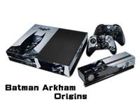 отличительные знаки контроллера xbox оптовых-Batman Arkham Origins защитная наклейка кожи/наклейки для консоли xbox one+ 2 контроллера + скин Kinect