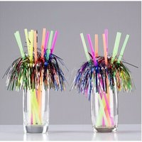 Wholesale Fireworks Art - Creative Fireworks Color Drinking Straw DIY Art Juice Milk PP Straw Eco Friendly Festive Party Decoration SD975