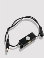 mini sensor de movimiento led al por mayor-5.5 * 2.1mm Macho Hembra Enchufe DC Automático Mini tira de LED uso sensor de movimiento pir Interruptor de detector de 12V para tiras led