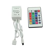 Wholesale Led Changing Strip - 24Key IR Remote Controller For 5M RGB 5050 300 LED Light Strip 12V 24V DC 6A,16 Colors Changing