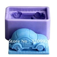 Wholesale Soft Silicon Mold For Soap - Free shipping R0698 Soap Molds Car model Soft Silicon mold DIY Mould For pudding cookie Jelly Cake cookie handmade soap