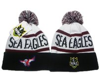 Manly Warringah Sea Eagles NRL Cappelli Beanie invernale per Uomo Donna Bianco Nero Sci Snow Pom Knit Beanies Caps Vendita calda DDMY