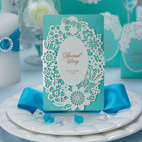 Wholesale 3d Wedding Cards Design - Personalized Wedding Invitations Cards 3D three-dimensional Special Gold Hollow Out Tower Design CW059 Chinese Best Party Invitations