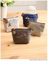 types de cartes achat en gros de-25PCS / LOT Vente chaude! Lady portefeuille porte-monnaie sac à main ID Card Case Classic Retro Mini sac à main 13 types avec fleur