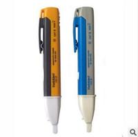 gerilim ölçer test cihazı toptan satış-AC Güç Çıkışı Gerilim Dedektörü Sensörü Test Cihazı Kalem LED Işık Göstergesi Dedektörleri Test Metre 90-1000 V