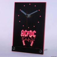 Wholesale N Dc - Wholesale-tnc0142 ACDC AC DC Rock n Roll Bar Beer Table Desk 3D LED Clock