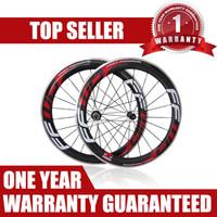 Wholesale 12 inch bike wheels resale online - FFWD F6R mm Carbon Fiber Road Bike Alloy Brake Suface Wheelset F5R Carbon Aluminum Road Bicycle Wheels Clincher