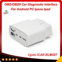 Wholesale Elm Wifi Ipad - 2016 100% Original Vgate iCar WIFI ELM327 OBD scan ELM 327 For Android PC iPhone iPad Car Diagnostic interface Free shipping