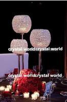Wholesale silver candle holders wholesale - romantic decorative Elegant crystal candle holder for wedding decoration