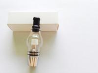 glassomizer vaporizer großhandel-Glaskugelverdampfer Glasbehälter Wachs trockene Krautverdampferfeder Dampfzigaretten elektronische Zigarettenglaszerstäuberglasomizer für 510 Batterie