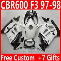 Wholesale Cbr Custom Fairings - OEM factory custom bodywork for Honda fairing kit CBR 600 F3 CBR600F3 1997 1998 ABS plastic REPSOL fairings CBR600 F3 95 96 EDJC