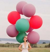 büyük boy balonlar toptan satış-215 yeni 36 Inç Lateks Balon büyük boy balon için Promosyon düğün balon Yılbaşı balon 50 adet / grup