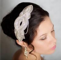 ingrosso tiara di nozze del fiore del diamante-Headpiece nuziale dei capelli del Tiara degli accessori capi di cerimonia nuziale della forcella del fiore della perla della parte superiore di cristallo di qualità superiore Trasporto libero