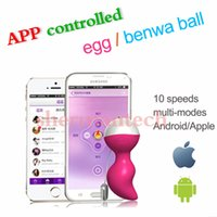 Wholesale Vibrators Music - APP controlled USB rechargeable vibrating remote control music egg vibrators, mobile control wireless silicone music kegel ball