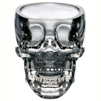 Wholesale Crystal Skull Head Whiskey Glass - Wholesale-New Crystal Skull Head Vodka Whiskey Shot Glass Cup Drinking Ware Home Bar Cup Mug