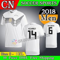 Wholesale Football German - 2018 Germanyes jersey OZIL soccer jersey Away Home MULLER GOTZE HUMMELS KROOS BOATENG REUS German jerseys football shirts