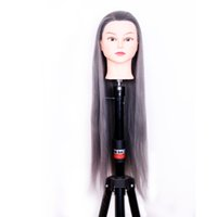 Wholesale Doll Wigs Long - 25 inch long 100% high temperature silk body wig model hairdresser training doll head beautiful rainbow hair training head