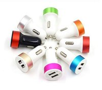 Wholesale ring adapters - Car Chargers Adapter 5V 3.1A Metal Ring Travel Adapter Cell Phone Chargers For Samsung S5S6