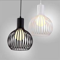 Wholesale Onion Pendant Lights - L52-Retro personality onion iron cage chandelier simple modern corridor aisle lights single head iron bird cage pendant lamp