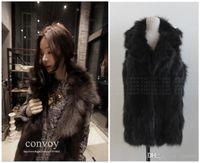 Wholesale Womens Long Fox Coats - New Womens Faux Fox Fur Lapel Neck long Vest Sleeveless Jacket Ladies Winter Fur Waistcoat Coat Free Shipping WT180