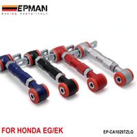 arka kontrol kolları toptan satış-EPMAN Kontrol Kolu YARIŞ ARKA AYARLANABİLİR CAMBER ARMS KİTİ 88-00 Honda CIVIC (Siyah / Mavi / Kırmızı / Şerit) EP-CA1029TZLG
