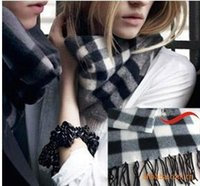 Wholesale Scarf Ring For Men - 20PCS hot scarves Winter Tartan women's Scarves Hot Sale Thicked warm Man's cashmere scarf England plaid scarf for man Winter scar