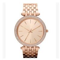 armbanduhr damen gold großhandel-Ultra dünne Rose Gold Frau Diamant Blume Uhren 2017 Marke Luxus Krankenschwester Damen Kleider weibliche Falten Schnalle Armbanduhr Geschenke für Mädchen