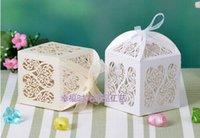cajas de corte de boda al por mayor-Corte de corazón con láser corte de caramelo Caja de banquete Presente Cajas Caja de dulces Fiesta titular titular