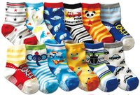 Wholesale panda for kids - kids socks baby 1-3 years young children new born for learning walk animal logo panda duck mouse