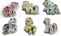Wholesale Horse Gifts Free Shipping - Wholesale-10pcs Mix color Horse floating locket charms FC1110 Fit floating memory locket free shipping christmas gift