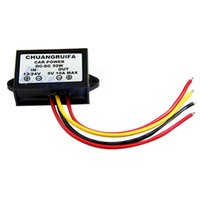 Wholesale 12 24v Converter - hot sell Free Shipping 1PC Waterproof DC 12 24V to 5V 10A 50W Buck Step-Down Converter Module Car Power free shipping