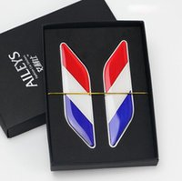 Wholesale Renault France - Car Styling Germany France Italy Flag Car Sticker For Ford Focus Chevrolet Cruze Audi BMW Volkswagen Peugeot Renault Citroen