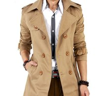 Wholesale Double Han - The spring and autumn period and the new 2016, quality, fashionable man han edition belt double-breasted trench coat cultivate one's moralit