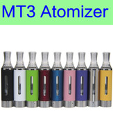 Wholesale E Cigarettes Bottom - Wholesale MT3 Atomizer E cigarette rebuildable bottom coil Clearomizer tank for EGO battery DHL free shipping