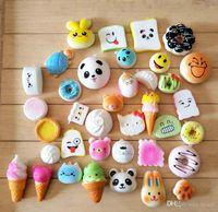 Wholesale Wholesale Sports Bags Cheap - Kawaii Squishy Rilakkuma Donut Sof Squishies Cute Phone Straps Bag Charms Slow Rising Squishies Jumbo Buns Cheap Charms