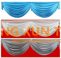 3M Long Ice Silk Swag Drape Only Can Fir Falência de mesa \ Backdrop Curtain And Other Wedding Decoration