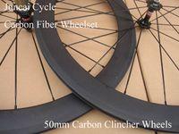 Wholesale Black Basalt - Wholesale-3K matte finish cheap 50mm carbon clincher wheelset,full black carbon fiber road bike wheels with basalt brake surface