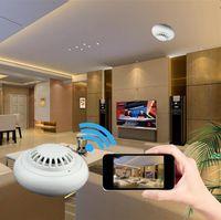 Wholesale Spy Camera Smoke Alarm - Newest Wifi 1080P Hidden Spy Cam IP Camera Alarm Mini Camcorders HD 100Deg Support 32GB TF Card smoke detector network home security monitor