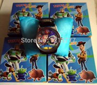 Wholesale Wholesale Toy Story Watch - Lovely Lots 5 pcs Cartoon Toy Story watch Wristwatches WITH BOX &GIFT box free shipping